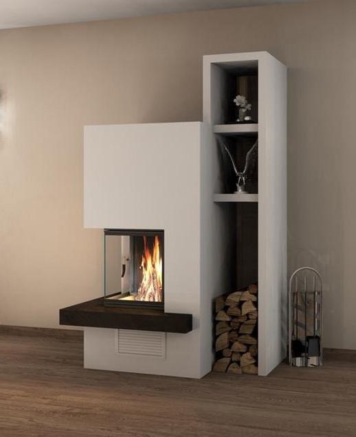 Ofenhaus Baklarz bietet Ihnen fertige Bausätze für Kaminanlagen. Kamin- Anlage in Sichtbetonoptik selber bauen mit Bausätzen von Spartherm.